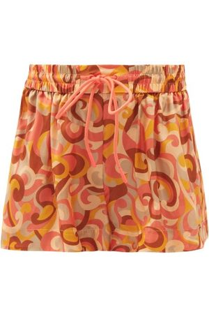 ZIMMERMANN Mae Swirl-print Silk Shorts - Womens - Print