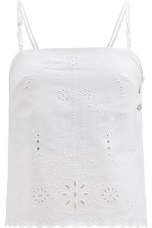BELIZE Women Camisoles - Daria Broderie-anglaise Cotton-poplin Top - Womens