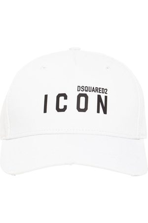 Dsquared2 Men Caps - Icon Thick Print Cotton Gabardine Cap