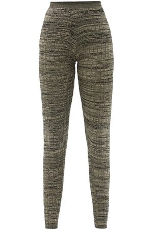 PETAR PETROV Women Leggings - Erin Mélange Rib-knitted Silk Leggings - Womens