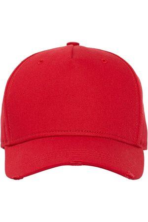 Dsquared2 Men Caps - Logo Embroidered Cotton Gabardine Cap