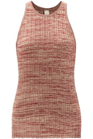 PETAR PETROV Women Tops - Ela Ribbed Silk Top - Womens