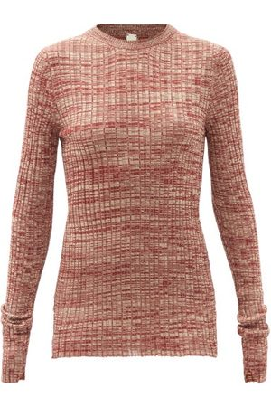 PETAR PETROV Mélange Silk-knit Sweater - Womens