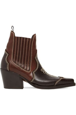 Dsquared2 Men Ankle Boots - Embroidered Leather Ankle Boots
