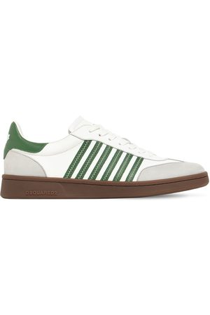 Dsquared2 Striped Boxer Leather Low-top Sneakers