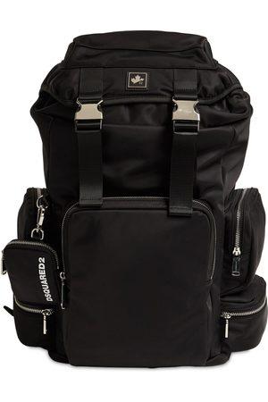 Dsquared2 Nylon Backpack W/ D2 Leaf Plaque