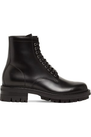 Dsquared2 Men Boots - Abrasivato Leather Combat Boots