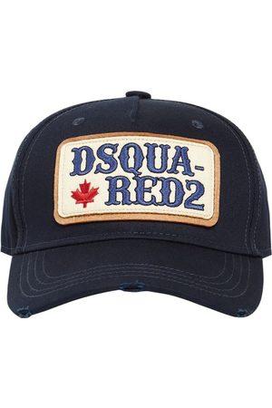 Dsquared2 Men Caps - Patch Cotton Gabardine Cap
