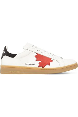 Dsquared2 Men Sneakers - Maple Leaf Boxer Leather Low Sneakers