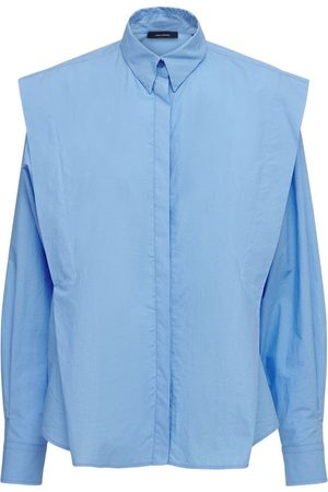 Isabel Marant Ralki Long Sleeve Cotton Poplin Shirt