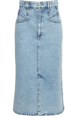 Isabel Marant Women Midi Skirts - Dipoma Cotton Denim Midi Skirt