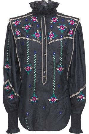Isabel Marant Women Blouses - Ciska Embroidered Shantun Blouse