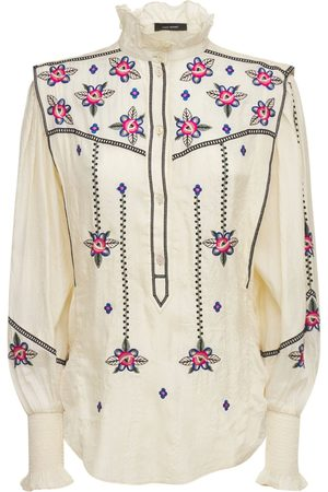 Isabel Marant Ciska Embroidered Shantun Blouse