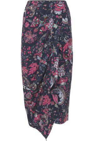 Isabel Marant Bree Printed Silk Midi Skirt