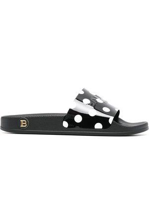 Balmain Polka dot-print sandals