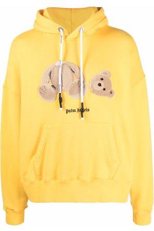 Palm Angels Men Hoodies - Bear logo-print hoodie