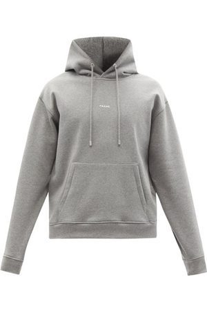 Men Sweatshirts - Frame - Logo-print Oversized Jersey Hooded Sweatshirt - Mens - Grey