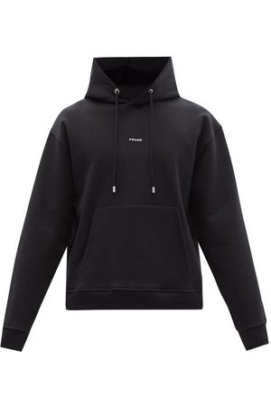 Frame Men Hoodies - Logo-print Oversized Jersey Hooded Sweatshirt - Mens