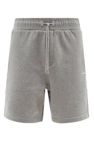 Frame Men Shorts - Drawstring-waist Cotton-blend Jersey Shorts - Mens - Grey