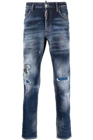 Dsquared2 Distressed paint splatter jeans