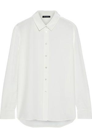 ST. JOHN Women Long sleeves - Woman Silk-blend Crepe De Chine Shirt Size 10