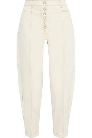 ULLA JOHNSON Woman Brodie High-rise Tapered Jeans Ivory Size 0