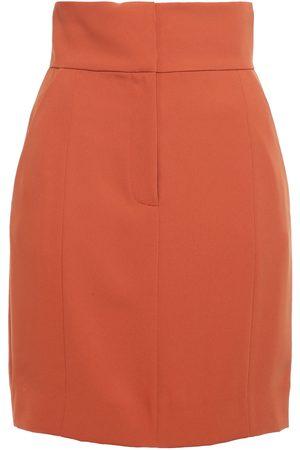 Sara Battaglia Woman Cady Mini Skirt Tan Size 38