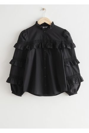 & OTHER STORIES Ruffle Embroidery Blouse