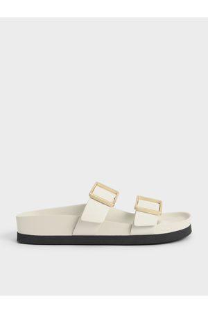 CHARLES & KEITH Buckle Strap Slide Sandals