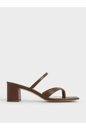 CHARLES & KEITH Block Heel Toe Loop Sandals