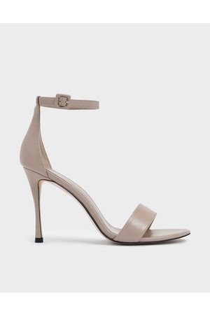 CHARLES & KEITH Women Heels - Ankle Strap Stiletto Heels