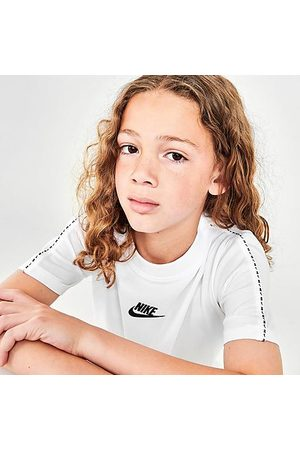Nike Kids' Sportswear Repeat Tape T-Shirt in / Size Small Cotton/Polyester/Knit