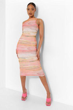 Boohoo Womens Marble Print Sleeveless Midaxi Dress - - 4