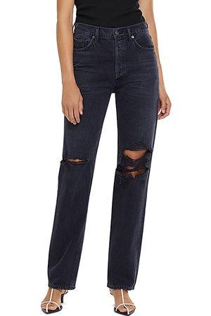 AGOLDE Women Straight - Lana Mid Rise Straight Leg Jeans