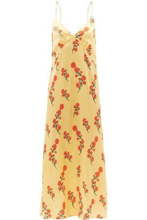 Bernadette Women Nightdresses & Shirts - Jeanine floral-print silk-blend satin nightdress