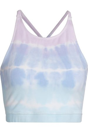 Electric & Rose Women's Grayson Tie-Dyed Bralette - Lilac Sea Salt Serene - Size Small