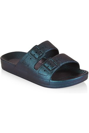 Freedom Moses Little Kid's & Kid's Double Buckle Slides - Twilight - Size 1 (Child) Sandals