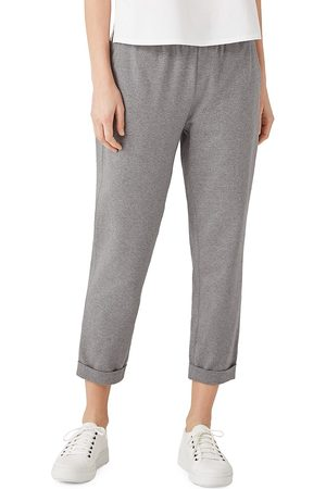 Eileen Fisher Women's Slim-Fit Crop Pants - Moon - Size XL