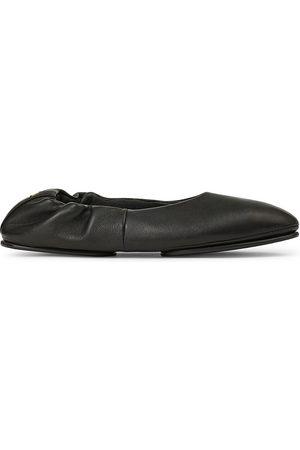 Lafayette 148 New York Women's Mira Leather Ballet Flats - - Size 38