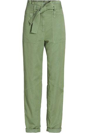 A.L.C. Women's Cobin Paperbag Pants - Fern - Size 4