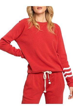 SOL ANGELES Women's Essential Fleece Pullover - Crimson - Size Medium