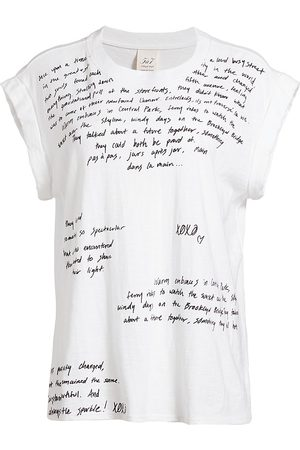 Cinq A Sept Women's Loveletter Bella Cotton T-Shirt - - Size Large
