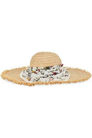 Erdem Women's Bandana Raffia Hat - Natural