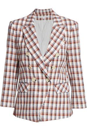 VERONICA BEARD Women's Empire Dickey Plaid Jacket - Size 16