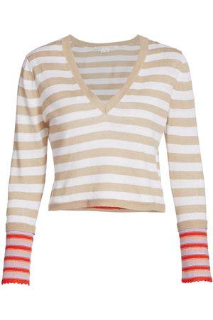 VERONICA BEARD Women's Florrie Striped Knit Pullover - Size Medium