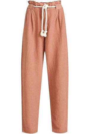 VERONICA BEARD Women's Karter Pleated Crop Pants - Mocha - Size 4