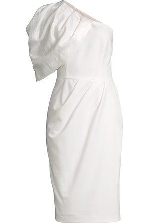 Black Halo Women's Puff Sleeve Cocktail Dress - Icy Iris Porcelain - Size 6
