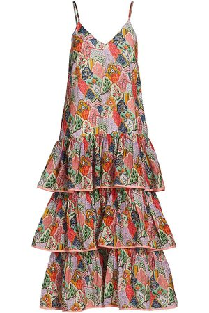 Rhode Women's Vena Printed Slip Dress - Multi Wall Flower - Size XL