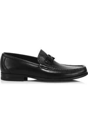 Salvatore Ferragamo Men's Grandioso Leather Gancini Loafers - Nero - Size 12