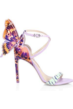 SOPHIA WEBSTER Women Sandals - Women's Chiara Leopard-Print Leather Sandals - Size 11